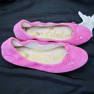 Sam Edelman Felicia Ballet flat pink suede size 8